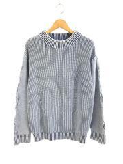 17SS/セーター(厚手)/コットン/インディゴ/襟元使用感