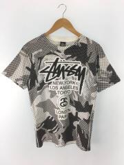 Tシャツ/S/コットン/WHT/ステューシー/総柄