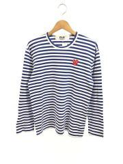 AD2013/長袖Tシャツ/L/コットン/ブルー/ボーダー/AZ-T164/プレイコムデギャルソン