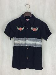 半袖シャツ/140cm/レーヨン/BLK/総柄/アロハシャツ