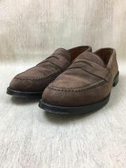 ローファー/26.5cm/スウェード/ブラウン/茶色/N5205/コインローファー/MADE IN USA