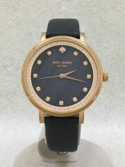 腕時計/アナログ/レザー/NVY/NVY/KSW1051