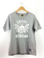 Tシャツ/1/コットン/グレー スカル ドクロ