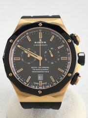 クォーツ腕時計/アナログ/ラバー/BLK/BLK/10107-37RNCA-GIR