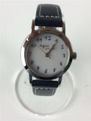 ソーラー腕時計/V117-0AT0/980346/ネイビー/レザー