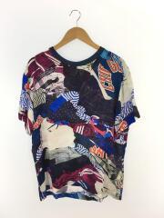 Tシャツ/40/レーヨン/マルチカラー/総柄/メゾンマルジェラ