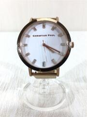 クォーツ腕時計/5気圧防水/メッシュベルト/アナログ