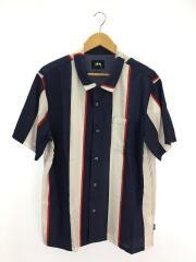 BIG STRIPE/テンセルオープンカラーシャツ/L/ストライプ/NVY