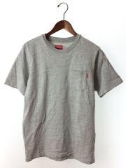 16SS/POCKET TEE/M/コットン/GRY/ポケT