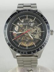 自動巻腕時計/アナログ/ステンレス/BLK/SLV/MK9037/オートマチック/シルバー/黒