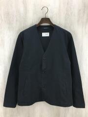 カーディガン(薄手)/S/コットン/BLK/黒/ブラック/ドローコード/ポリエステル/