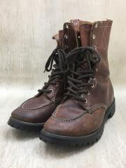 ブーツ/US8/ブラウン/レザー/刺繍黒タグ/60s~70s/レースアップ/ワークブーツ