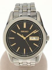 クォーツ腕時計/アナログ/ステンレス/ブラック/シルバー/7N43-0AM0/スピリット/ウォッチ/
