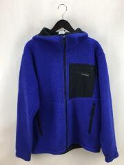 フリースジャケット/ボアジャケット/M/ポリエステル/ブルー/青/WM6337/フーディー
