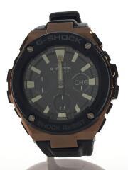ソーラー腕時計/デジアナ/BLK/BLK/GST-W120L-1AJF/G-SHOCK