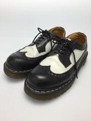 ブーツ/UK6/BLK/レザー/ブラック×ホワイト/10458
