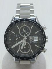 自動巻腕時計・100Mキャリバー16クロノグラフ41mm/デジタル/ステンレス/WHT/SLV/carrera カレラ