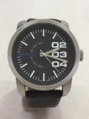 腕時計/アナログ/レザー/BLK/ブラック/DZ-1373