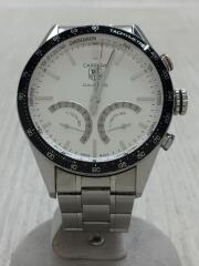 クォーツ腕時計・カレラ/CARRERA CALIBRE S/アナログ/ステンレス/WHT/SLV/クロノグラフ   タキメーター