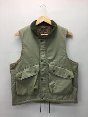 19AW/Field Vest/ナイロンベスト/S/コットン/KHK/カーキ/ナイロン×コーデュロイ