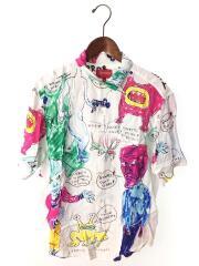 アロハシャツ/M/レーヨン/WHT/総柄/20SS/Daniel Johnston Rayon S/S Shirt