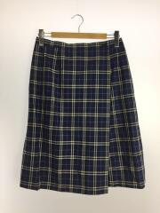 スカート/15/ウール/BLU/ブルー/青/チェック/FQB56-036
