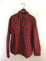 19AW/Arc Logo Quilted Flannel Shirt/ネルシャツ/L/コットン/RED/レットチェック