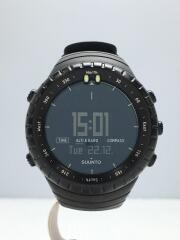 クォーツ腕時計/デジタル/ラバー/BLK/BLK/CORE/ブラック