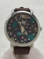 クォーツ腕時計/アナログ/レザー/マルチカラー/BRW//デランシー/フローラル