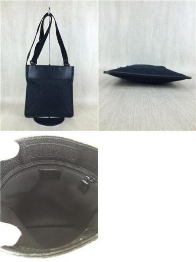 new styles de0df e2dea ショルダーバッグ/--/BLK/総柄/GGマーク/キャンバス/レザー/定番/鞄/黒/カバン