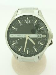AX2103/クォーツ腕時計/アナログ/ステンレス/BLK/SLV/アルマーニエクスチェンジ