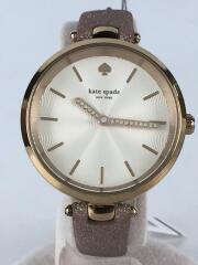 KSW1474/クォーツ腕時計/アナログ/ホワイト/ピンク/ゴールド/レディース/ラメ/ストーン有