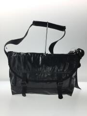 ショルダーバッグ/メッセンジャーバッグ/PVC/ブラック/黒/無地/カバン/鞄
