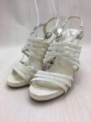 サンダル/ストラップ/チェーン/コルクソール/ヒール/38/ホワイト/白/シューズ/靴/
