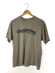 Tシャツ/2/コットン/グレー/プリント/バックプリント/袖ロゴ/フロントロゴ/トップス/衣料