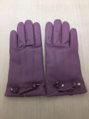 TEA RS BW LTH GLV/グローブ/手袋/レザー/パープル/紫/レディース/F20887/