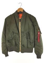 MA-1/フライトジャケット/ミリタリージャケット/ブルゾン/S/ナイロン/カーキ/緑/オレンジ