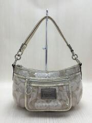 ハンドバッグ/シグネチャー/ベージュ/14541/bag/カバン/鞄/スパンコール/ゴールド