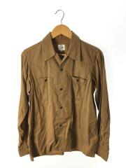 長袖シャツ/ウエスタンシャツ/トップス/M/コットン/キャメル/ベージュ/スナップボタン/メンズ