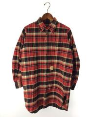 17AW/長袖シャツ/40/コットン/レッド/チェック/S72DL0513/ネルシャツ/胸ポケット/トップス