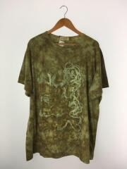 18SS/Tシャツ/3/コットン/グリーン/総柄/クルーネック/セットインスリーブ/HW-T12-070