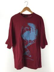 半袖Tシャツ/FREE/コットン/ボルドー/UCY-9892-1/20SS/グラフィックオーバーサイズTE