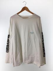 長袖Tシャツ/3/コットン/ホワイト/UE-180068/18SS/L/S BIG TEE/ロンT/プリント