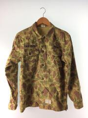 CSJ1037M/長袖シャツ/シャツジャケット/ARMY/コットン/グリーン/緑/カモフラ/迷彩/総柄
