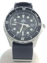 クォーツ腕時計/アナログ/黒/ブラック/ダイバーズウォッチ/デイト