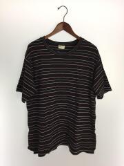 Tシャツ/XL/コットン/ボーダー/498217/カットソー/ブラック/トップス