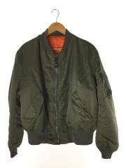 MA-1/90s/ALPHA製/フライトジャケット/XL/ナイロン/カーキ/オレンジ/MIL-J-82790J