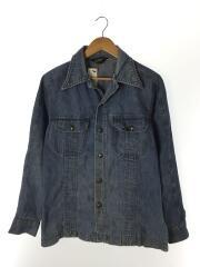 70s/デニムシャツジャケット/Gジャン/スナップボタン/MADE IN USA/インディゴ/無地