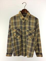 80s/JCPenney/長袖シャツ/コットン/マルチカラー/チェックシャツ/ヴィンテージ/vintage