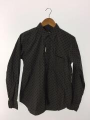 ドット柄シャツ/1K-B003/AD2012/長袖シャツ/M/コットン/グレー/ドット/使用感有/